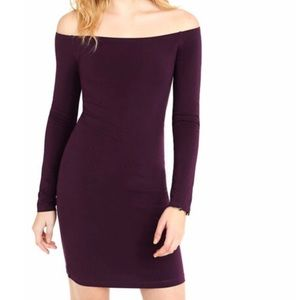 Express Fitted Off The Shoulder Dress